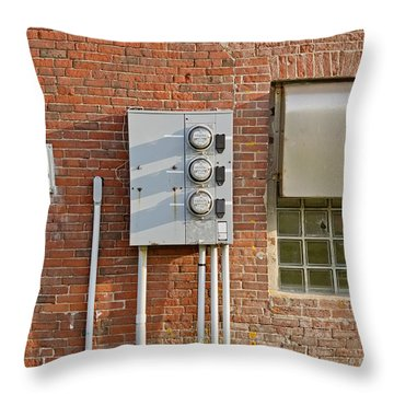 W Quoddy Head Power Station North Wall Throw Pillow