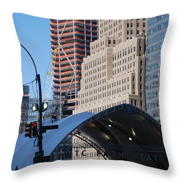 W T C Path Station Throw Pillow by Rob Hans
