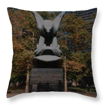 W W II Eagle Throw Pillow by Rob Hans