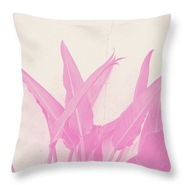 Wabi Sabi Garden 1- Art By Linda Woods Throw Pillow
