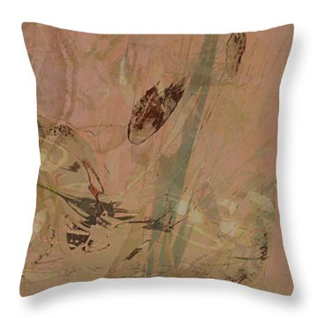 Wabi-sabi Ikebana Original Mashup Throw Pillow