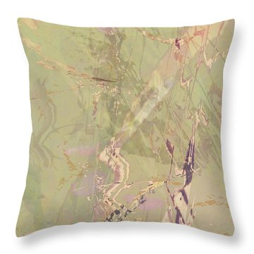 Wabi Sabi Ikebana Revisited Shabby 1 Throw Pillow