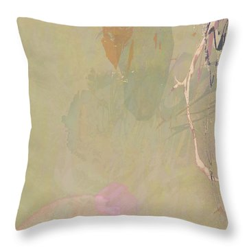 Wabi Sabi Ikebana Revisited Shabby 2 Throw Pillow