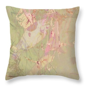Wabi Sabi Ikebana Revisited Shabby 4 Throw Pillow