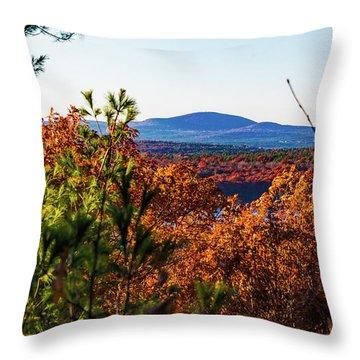 Wachusett In Fall Throw Pillow