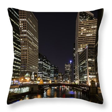 Wacker Avenue Throw Pillow