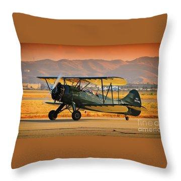 Waco Upf-7  Version 2 Throw Pillow