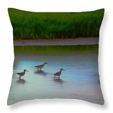 Waders Throw Pillow