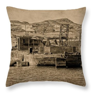 Wadi Es Sebua Throw Pillow by Nigel Fletcher-Jones