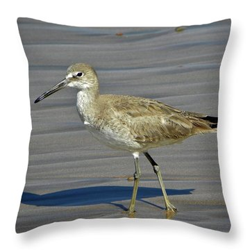 Wading Day Throw Pillow by Sheila Ping