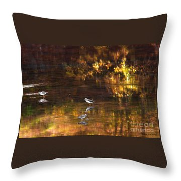 Wading In Light Throw Pillow