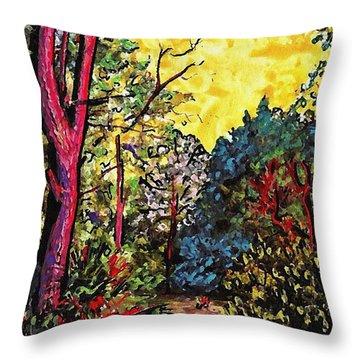 Wadmalaw Island Throw Pillow by Sarah Loft