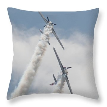 Wafb 09 Yak 52 Aerostar 3 Throw Pillow by David Dunham