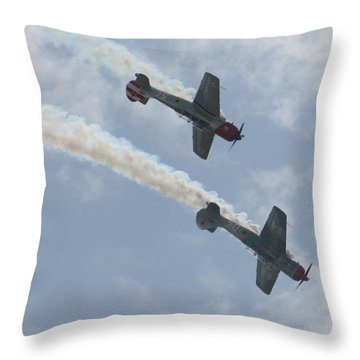 Wafb 09 Yak 52 Aerostar 7 Throw Pillow by David Dunham