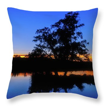 Wagardu Lake, Yanchep National Park Throw Pillow by Dave Catley