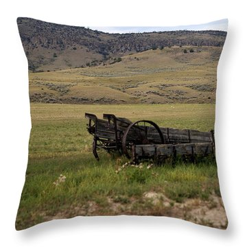 Wagon Ho Throw Pillow by Marty Koch