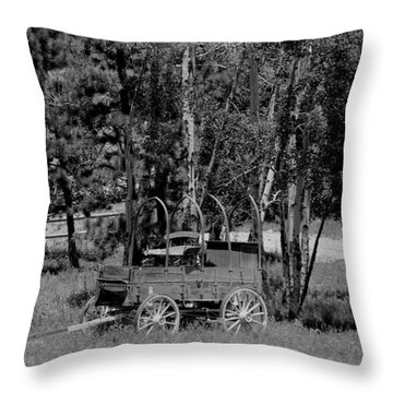 Wagon Trail Throw Pillow