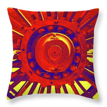 Throw Pillow featuring the photograph Wagon Wheel by Cynthia Powell