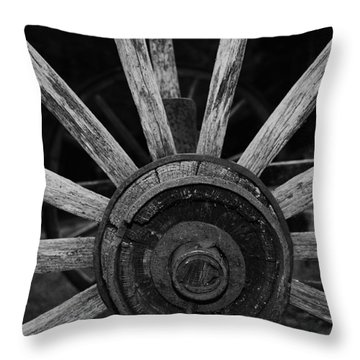 Wagon Wheel Throw Pillow by Eric Liller