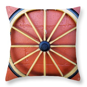 Wagon Wheel Throw Pillow by John S