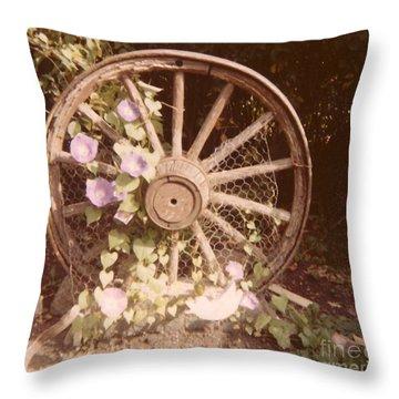 Wagon Wheel Memoir Throw Pillow