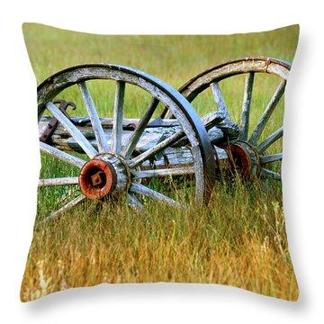 Wagon Wheels Throw Pillow by Melanie Alexandra Price
