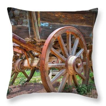 Wagons Ho Throw Pillow