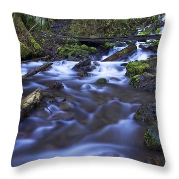 Wahkeena Creek Bridge # 5 Throw Pillow