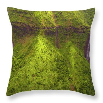 Waialeale Waterfalls Throw Pillow