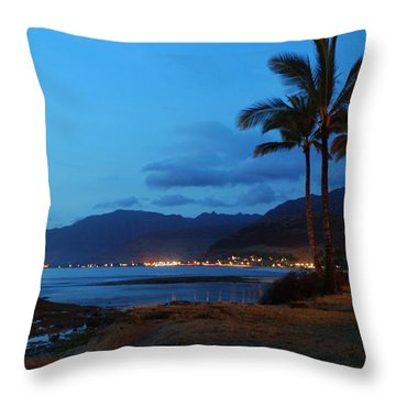 Waianae Night Throw Pillow