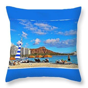Waikiki Throw Pillow
