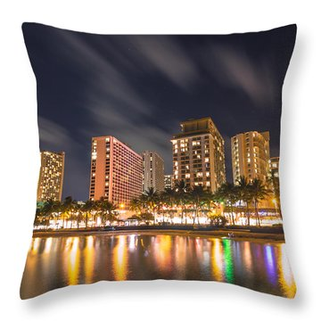 Waikiki Nights Throw Pillow