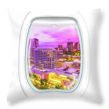 Waikiki Porthole Windows Throw Pillow