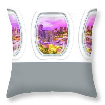 Waikiki Porthole Windows Throw Pillow