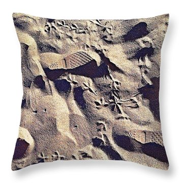 Waikiki Sand Throw Pillow