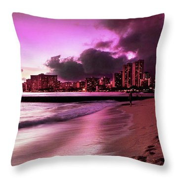 Waikiki Twilight Throw Pillow