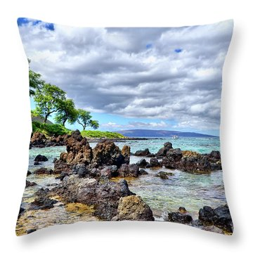 Wailea Beach #2 Throw Pillow