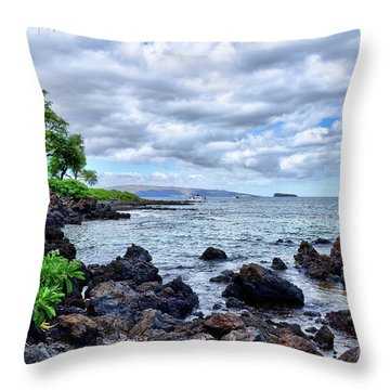 Wailea Beach Throw Pillow