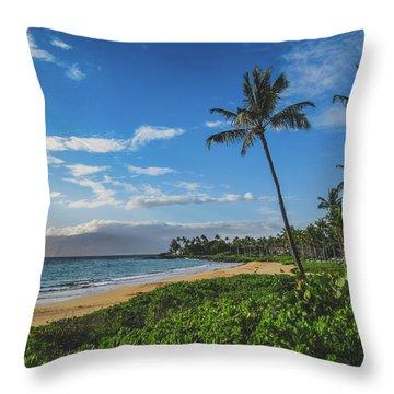 Wailea Beach Throw Pillow