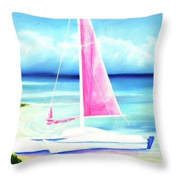 Waimanalo Beach #187 Throw Pillow by Donald k Hall