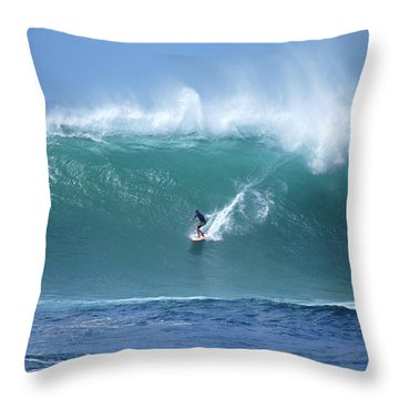 Waimea Bay Boomer Throw Pillow by Kevin Smith