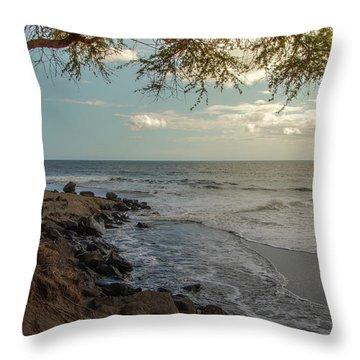 Waimea Bay Sunset Throw Pillow