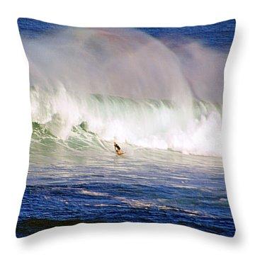 Waimea Bay Wave Throw Pillow by Kevin Smith