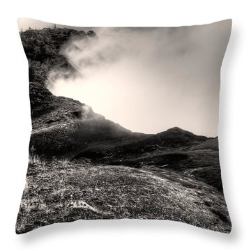 Waimea Early Morning Fog Throw Pillow