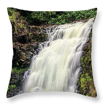 Waimea Falls Throw Pillow