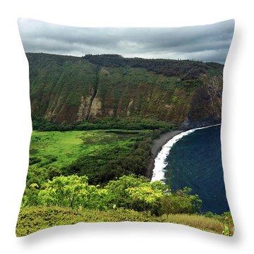 Waipio Valley Throw Pillow