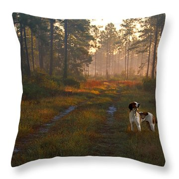 Wait Up Throw Pillow