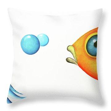 Wait Up  Throw Pillow