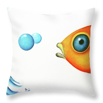 Wait Up  Throw Pillow by Oiyee At Oystudio