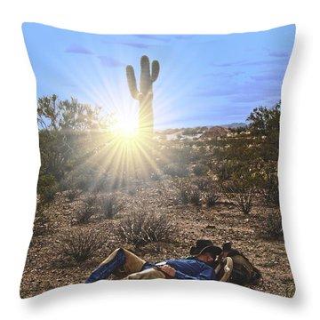 Waitin' On A Horse Throw Pillow